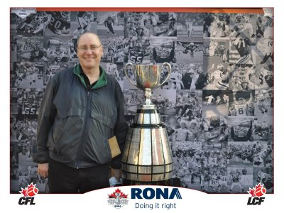 I meet up with the Grey Cup yet again
